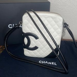 Authentic Chanel cambon quilted lambskin crossbody